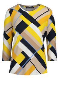 Shirt Kurz 3/4 Arm - 7821/Camel/Yellow