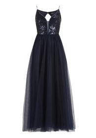 Kleid Lang ohne Arm - 8541/Night Sky