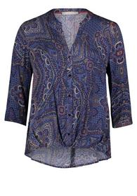 Bluse Lang 3/4 Arm - 8808/Classic Blue/Red