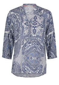 Bluse Lang 3/4 Arm - 1889/White/Classic Blue