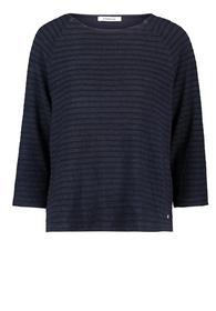 Shirt Lang 3/4 Arm - 8711/Dark Blue Melange