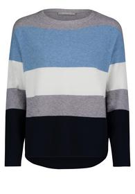 Strickpullover Kurz 1/1 Arm - 8891/Blue/Grey