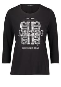 Shirt Kurz 3/4 Arm - 9812/Black/Cream