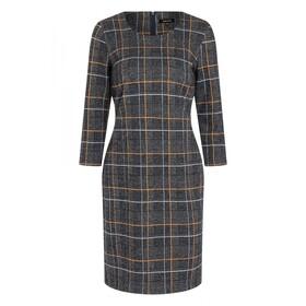 Check Jacquard Jersey Dress Active