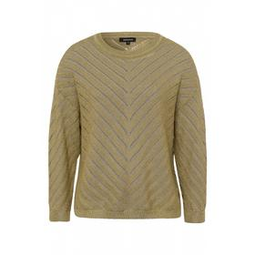 Pullover w special structure Active - 0662/muddy g