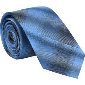 Krawatte 6,0cm - Verwischtes Karo Mittelblau