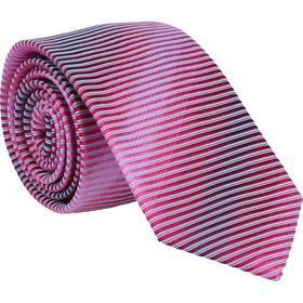 Krawatte 6,0cm - Ablaufstreifen Pink
