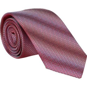Krawatte 6,0cm - Uni Struktur Rot