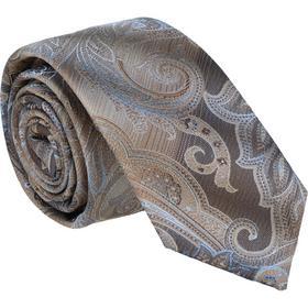 Krawatte 6,0cm - Paisley Farbverlauf Camel