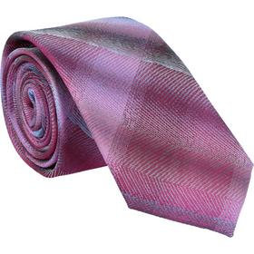 Krawatte 6,0cm - Verwischtes Karo Pink