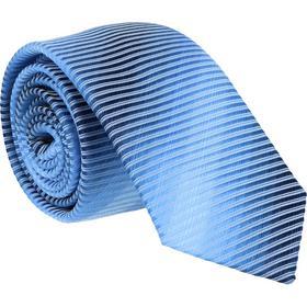 Krawatte 6,0cm - Ablaufstreifen Mittelblau