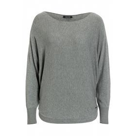 Pullover, Fledermausärmel, grau