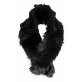Webpelz-Schal, schwarz