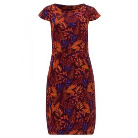 Autumn Leaf Print Dress Active - 4548/wine red mul
