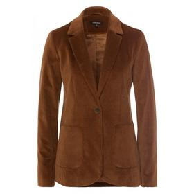 Corduroy Velvet Blazer Active - 0272/rusty brown