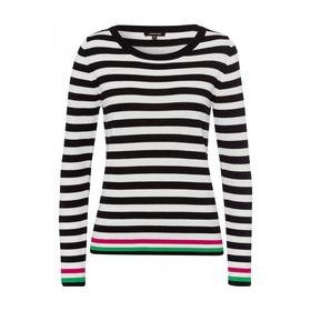Striped Pullover Active - 2790/black 2 col