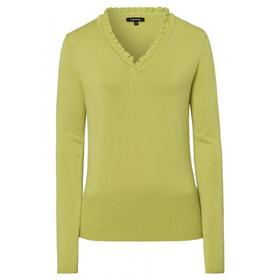 Ruffled V-Neck Pullover Active - 0610/lime green