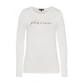 T-Shirt mit Metallic-Schrift