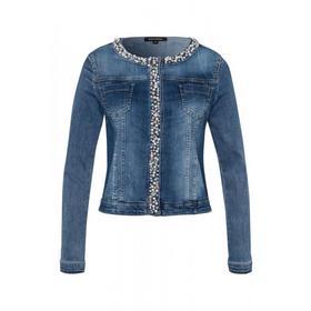 kurze Jeansjacke mit Perlen