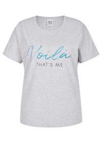 Statement-T-Shirt mit Glitzer-Print
