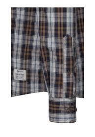 Langarmhemd Jack mit Karomuster light grey L