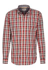 Langarmhemd Dan mit Karos red L