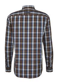 Langarmhemd Dan mit Karos petrol L