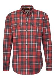 Hemd Pat aus 100% Baumwolle red L
