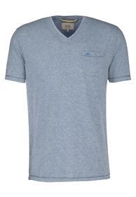 Shirt mit V -Ausschnitt petrol L
