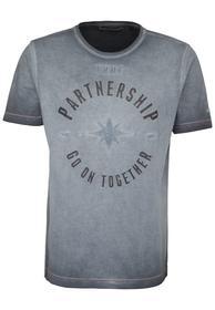 T-Shirt mit 3-D-Druck graphite L