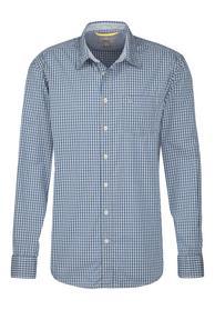 Hemd Dan aus reiner Baumwolle petrol L