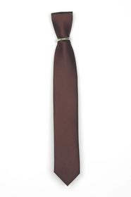 Krawatte Braun mit Kleinmuster schmal