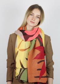 Plissee-Schal aus recyceltem Polyester mit Flower Print