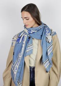Tiger-Schal aus recyceltem Polyester