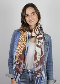 Tiger- & Leo-Schal aus Baumwolle und Modal