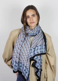Exklusiver Mustermix-Schal aus feiner Viskose