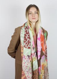 Feiner Multi-Mustermix-Schal aus Baumwolle
