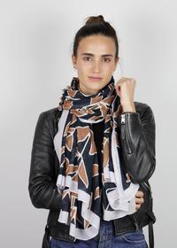 Softer XL-Schal mit Blätter-Print aus recyceltem Polyester
