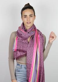 Logo-Schal aus Baumwolle und Modal