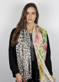 Mustermix-Schal aus Baumwolle und Modal