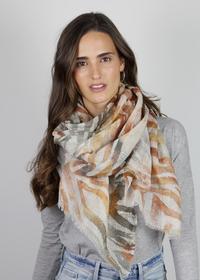 Zebra-Schal aus Baumwolle und Leinen