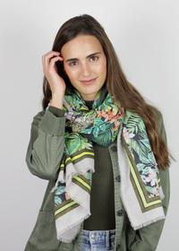 Exotik-Schal aus feiner Sommer-Baumwolle