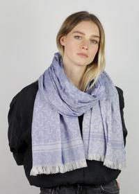 Logo-Schal aus feiner Baumwolle