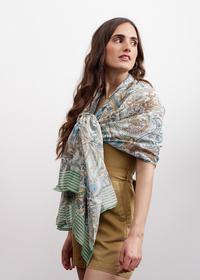Paisley-Schal aus reiner Baumwolle