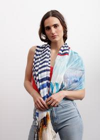 Softer Mustermix-Schal aus Baumwolle und Modal