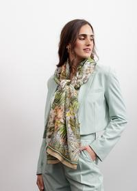 Edler Exotik-Schal aus Baumwolle mit Seide