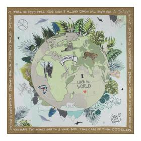 "Take Care Tuch ""Love Your Planet"" aus reiner Baumwolle"