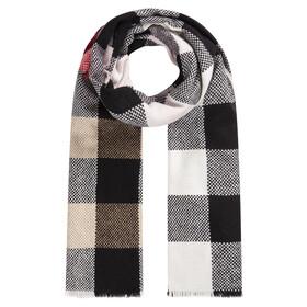 Winterwarmer Karo-Schal aus reiner Wolle