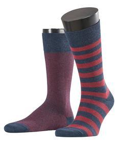 Socken Piqué Stripe 2-Pack