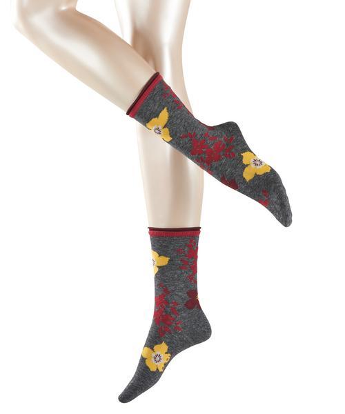 Socken Melange Flower